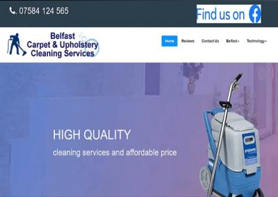Screenshot of Belfast Carpet Cleaning Website