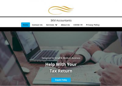 Screenshot of IKM Accountants Website