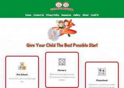 Screenshot of St Mary's Preschool Website